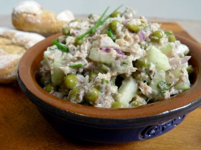 Sardinesalade op brood